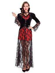 Sorcière Vampire Costumes de Cosplay Féminin Halloween Carnaval Fête d'Octobre Fête / Célébration Déguisement d'Halloween Rouge