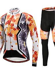 CYCOBYCO Calça com Camisa para Ciclismo Unisexo Manga Comprida Moto Conjuntos de Roupas Roupa de Ciclismo Térmico/Quente Esportes de