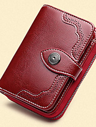 cheap -Women's Bags Cowhide Wallet Buttons Zipper for Event/Party Office & Career All Seasons Blue Black Wine