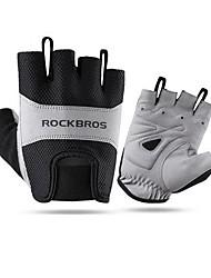 Недорогие -Спортивные перчатки Перчатки для велосипедистов Дышащий Анти-шоковая защита Без пальцев Сетка Велосипедный спорт / Велоспорт Муж.