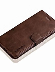 cheap -Case For Huawei P9 / Huawei P9 Lite / Huawei P10 / Mate 9 Wallet / Card Holder / Flip Full Body Cases Solid Colored Hard Genuine Leather for P10 Plus / P10 Lite / P10