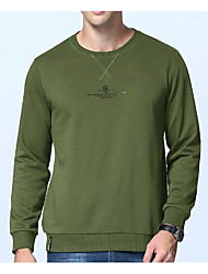 cheap -Men's Petite To-Go Casual Sweatshirt Vintage Round Neck Without Lining Micro-elastic Cotton Long Sleeve Fall