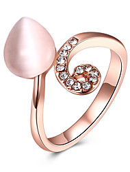 cheap -Women's Cuff Ring Band Rings Crystal Cubic Zirconia Sweet Lovely Fashion Hiphop Hypoallergenic Rose Gold Plated Alloy Irregular Jewelry