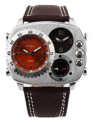 Недорогие -Муж. Кварцевый Наручные часы Японский Защита от влаги Термометр Компас Кожа Группа На каждый день