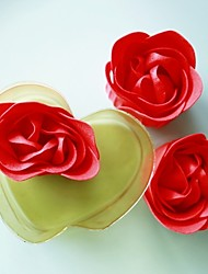 cheap -3pcs/box Rose Petals in Heart Box Wedding Favor