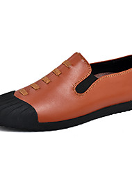 abordables -Homme Chaussures Similicuir Daim Printemps Eté Confort Mocassins et Chaussons+D6148 pour Décontracté Noir Marron