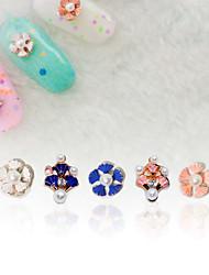 economico -2 Perline diamantini decorativi per unghie Alla moda Matrimonio Fantasie design per manicure