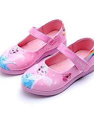 Fille Chaussures Similicuir Printemps Automne Chaussures de Demoiselle d'Honneur Fille Ballerines Pour Décontracté Blanc Noir Rouge Rose