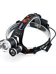 economico -GELE028AS Torce frontali Faro anteriore 2000 lm 4.0 Modo XM-L2 T6 pile incluse Zoom disponibile Professionale