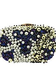 Ženy Tašky Celoroční Polyester Večerní kabelka Perličky pro Svatební Večírek Černá