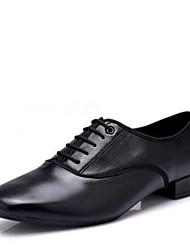 """cheap -Men's Modern Synthetic Microfiber PU Heel Outdoor Low Heel Black 1"""" - 1 3/4"""""""