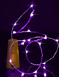 cheap -BRELONG® String Lights 20 LEDs Warm White White Multi Color Pink Purple Green Yellow Blue Red Waterproof <5V