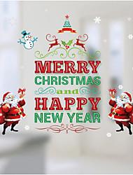 Natal Adesivos de Parede Decalques Autocolantes de Parede Decorativos,Material à Prova-de-Água Papel Material Decoração para casa Decalque