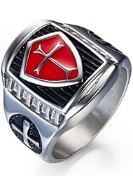 cheap -Men's Band Rings , Vintage Stainless Steel Cross Jewelry For Gift Daily
