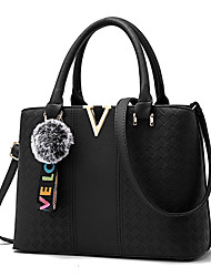 cheap -Women's Bags PU Tote 4 Pieces Purse Set Pattern / Print for Shopping Gray / Army Green / Wine