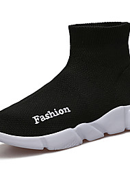 cheap -Boys' Shoes Knit Tulle All Season Fall Comfort Light Soles Loafers & Slip-Ons For Athletic Casual Blue Red Black