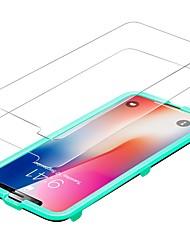 abordables -Protector de pantalla para Apple iPhone X Vidrio Templado 2 pcs Protector de Pantalla Frontal Alta definición (HD) Dureza 9H Borde