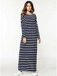 cheap -Women's Sheath Dress - Striped Maxi