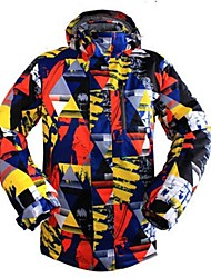 cheap -Men's Ski Jacket Warm Ventilation Windproof Wearable water-resistant Ski / Snowboard Multisport Snowshoeing Winter Sports Polyester