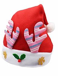 Недорогие -Отпуск Костюмы Санта Клауса Рождественская шляпа Зеленый Розовый Синий Красный Золотой Ткань Демин Косплэй аксессуары Рождество