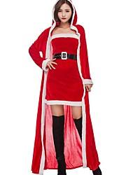Costumes de père noël père Noël Robe de Noël Féminin Noël Halloween Carnaval Nouvel an Fête / Célébration Déguisement d'Halloween Rouge