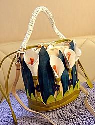 cheap -Women's Bags PU Tote Zipper for Casual All Seasons Dark Blue