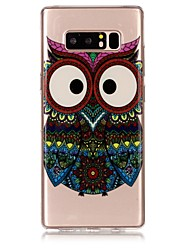 cheap -Case For Samsung Galaxy Note 8 Ultra-thin / Transparent / Embossed Back Cover Owl Soft TPU for Note 8