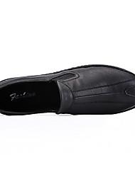 -Для мужчин-Для прогулок Повседневный Для занятий спортом-Кожа-На плоской подошве-Удобная обувь-Мокасины и Свитер