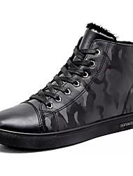 cheap -Men's PU(Polyurethane) Winter Comfort / Fur Lining Sneakers Black / Silver / Blue