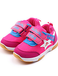 cheap -Girls' Shoes Tulle Rubber Spring Fall Light Soles Sneakers Walking Shoes Booties/Ankle Boots Split Joint For Casual Outdoor Pink Blue