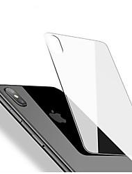 abordables -Protector de pantalla para Apple iPhone X Vidrio Templado 1 pieza Protector Posterior Borde Curvado 2.5D Ultra Delgado Anti-Arañazos