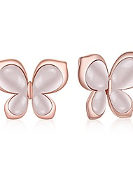 cheap -Women's Stud Earrings Drop Earrings Crystal Vintage Sweet Lovely Fashion Elegant Rose Gold Plated Alloy Bowknot Jewelry For Wedding Party