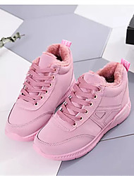 cheap -Women's Shoes Fabric Summer Athletic Shoes Walking Shoes Flat Heel Round Toe Split Joint for Black Green Pink