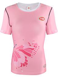 Femme Tee-shirt de Course Manches Courtes Séchage rapide Respirabilité Shirt Hauts/Top pour Course Cyclisme en Montagne Cyclotourisme