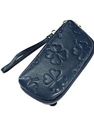 cheap -Women Bags Cowhide Clutch Zipper for Outdoor All Season Blue Black Red Gray Purple