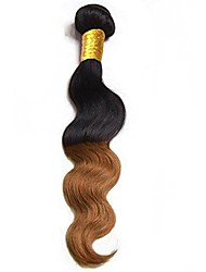 cheap -Remy Brazilian Ombre Hair Weaves Body Wave Hair Extensions 1pc Black/Medium Auburn
