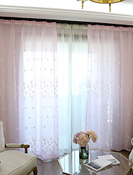 Pencil Pleat Double Pleat Grommet Top Curtain Contemporary Casual , Geometric Bedroom Polyester Material Sheer Curtains Shades Home
