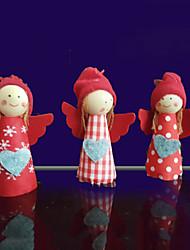 Недорогие -3pcs милые девушки рождественские украшения рождественская елка подвеска держатель декор