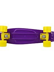 27 дюймов Longboards Скейтборд Нормальная На каждый день Спортивный Полипропиленовая пряжа 4-Черный Желтый Фиолетовый Однотонный