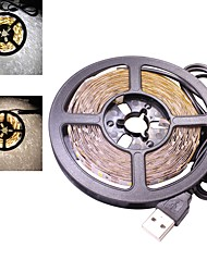 cheap -30W 5 Meters USB Led Flexible Strip Light DC 5V 2835  SMD 60 LEDs/Meter TV Background Lighting Warm / Cool White (1 Piece)