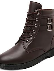 baratos -Homens sapatos TPU Outono Inverno Coturnos Botas Botas Curtas / Ankle Tachas para Casual Preto Marron