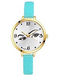 Недорогие -Жен. Наручные часы Китайский Кварцевый Крупный циферблат Силикагель Группа На каждый день Цветной Elegant Черный Белый Синий Красный