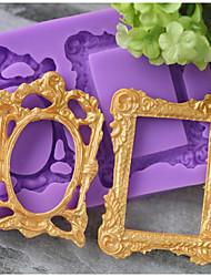 Недорогие -Инструменты для выпечки силикагель Праздник / День рождения / Новый год конфеты Круглый Формы для пирожных 1шт