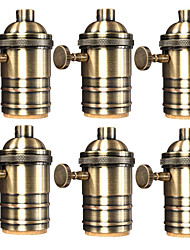 cheap -6 Pcs E26/ E27 Industrial Light Socket Vintage Edison Pendant lamp Metal holder With Knob switch