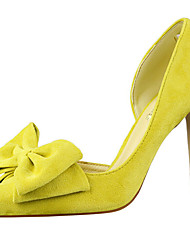 cheap -Women's Shoes Fur Summer / Fall Gladiator / Basic Pump Heels Stiletto Heel Pointed Toe Appliques Yellow / Red / Pink / Party & Evening