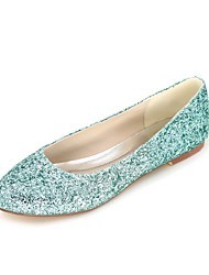 cheap -Women's Shoes Sparkling Glitter Spring Summer Basic Pump Flats Flat Round Toe for Wedding Party & Evening Purple Red Green Blue