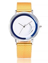 economico -Per donna Orologio casual Orologio alla moda Orologio da polso Cinese Quarzo Quadrante grande Gel di silice Banda Casual Blu Arancione