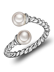 cheap -Women's Cuff Ring Fashion Korean Silver Pearl Geometric Jewelry For Other Daily