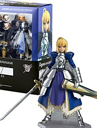 cheap -Anime Action Figures Inspired by Fate/Grand Order Saber PVC 14 CM Model Toys Doll Toy