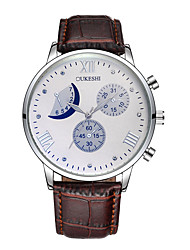 cheap -Men's Women's Quartz Sport Watch Chinese Calendar / date / day Chronograph Water Resistant / Water Proof Moon Phase Leather Band Vintage